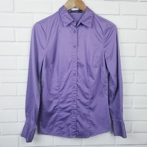 The Limited Purple Button Down Dress Shirt Medium